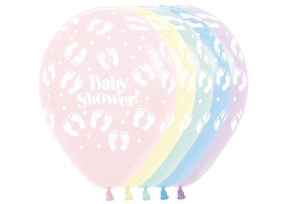 Zak losse ballonnen: Baby Shower pastel