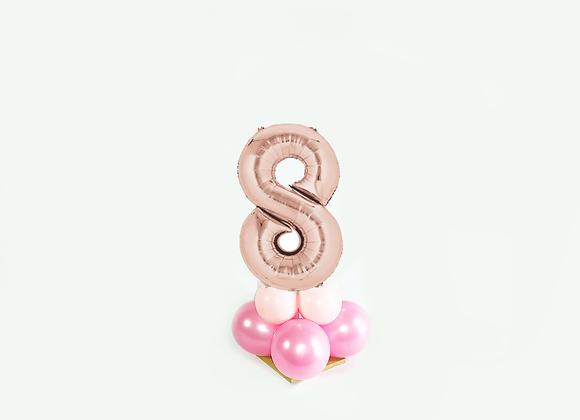 Mini cijfer 8 Rosé Goud