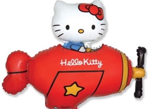 Hello kitty vliegtuig folieballon