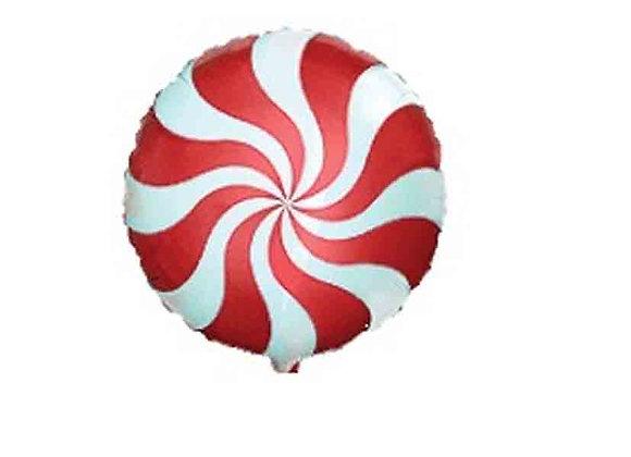 Helium rond snoep rood