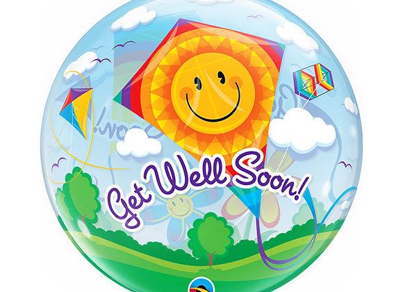 Helium bol vlieger Get Well Soon