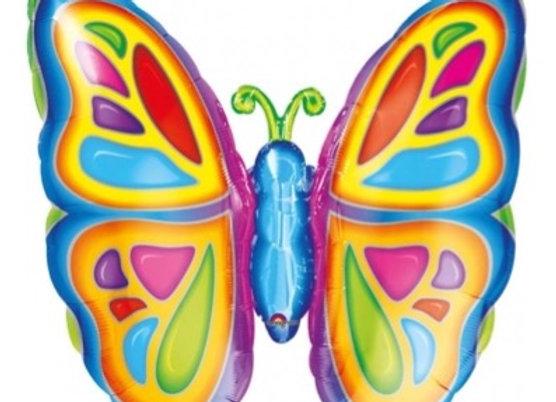 Bright butterfly folieballon