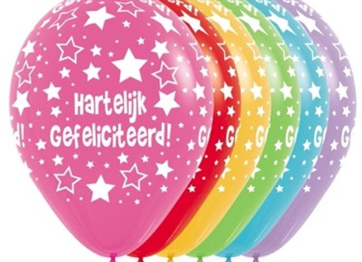 Zak losse ballonnen: Hartelijk gefeliciteerd