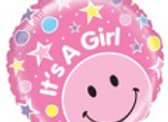 Its a girl smiley pink