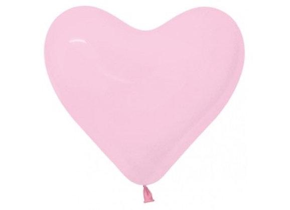 Zak losse ballonnen: Heart bubblegum pink
