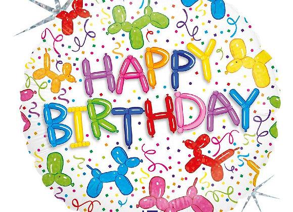 happy birthday twisted balloondog