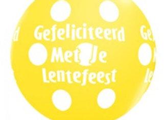 Zak losse ballonnen: Lentefeest assortiment