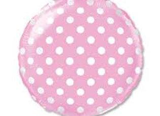 folieballon polka dots licht roze