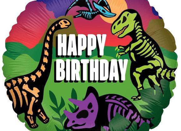 Helium Dino's Happy Birthday