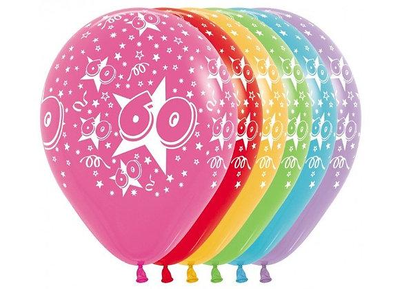Zak losse ballonnen: 60 assortiment
