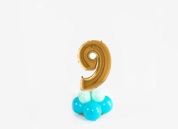 Mini cijfer 9 Goud