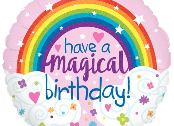 Helium Happy Birthday Rainbow
