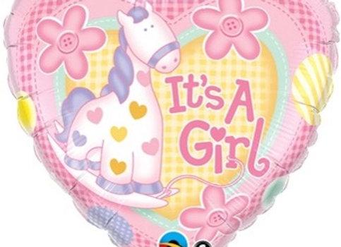 its a girl pink giraf