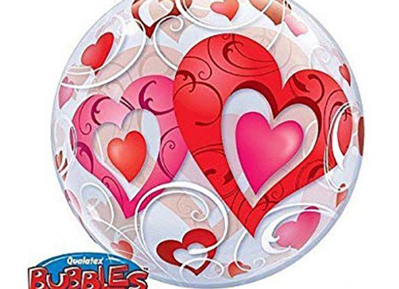 Helium bol rood hart
