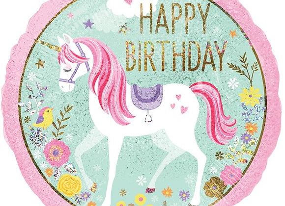 Helium Happy Birthday Unicorn