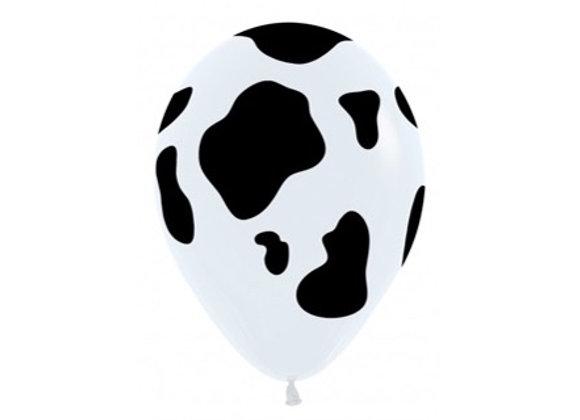 Zak losse ballonnen: All over cow