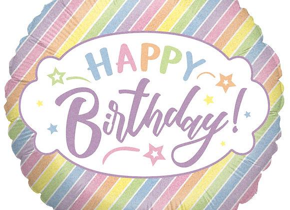 Helium Happy Birthday Pastel