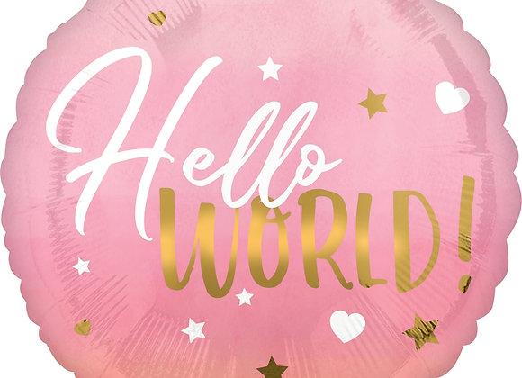 Helium rond Hello World