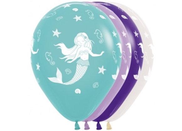 Zak losse ballonnen: All over mermaid