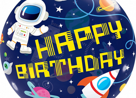 Helium bol space Happy Birthday