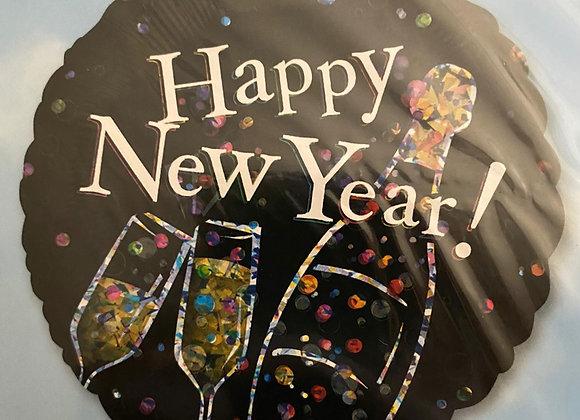 Helium Happy New Year black
