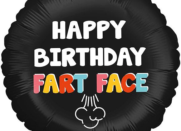 Helium Happy Birthday Fart Face