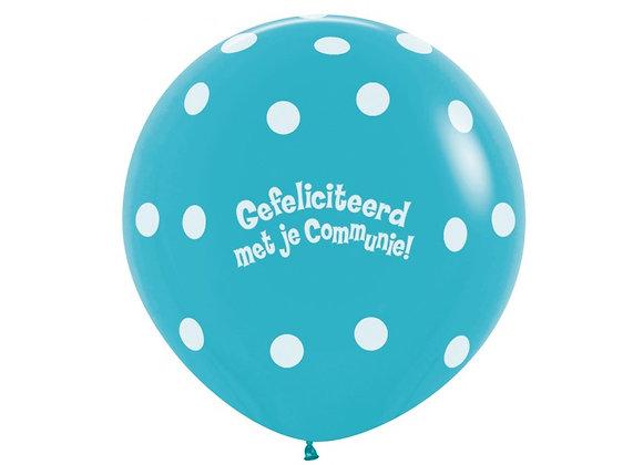 Zak losse ballonnen: Communie bolletjes blauw