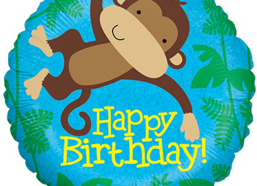 Helium Monkey Happy Birthday