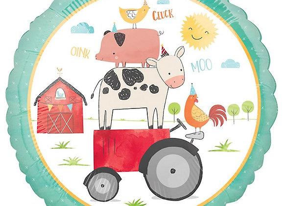 Helium rond Farm Animals