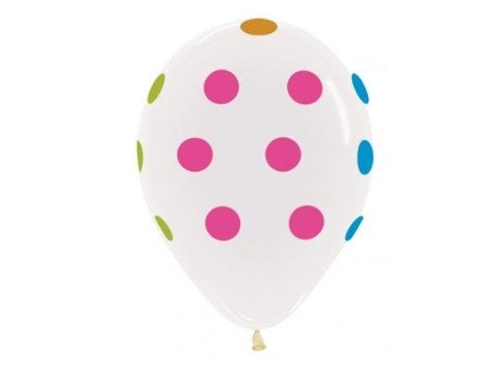 Zak losse ballonnen: Neon polka dots