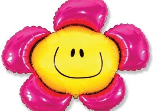 Fuchsia bloem folie ballon