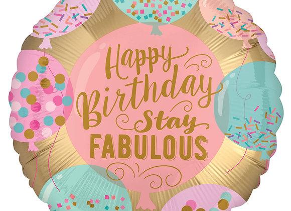 Helium Happy Birthday Confetti Balloons