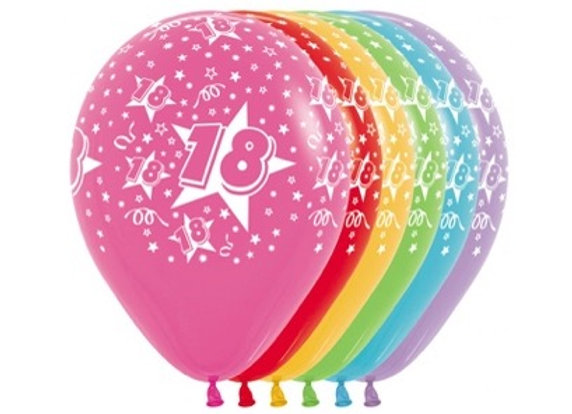 Zak losse ballonnen: 18 assortiment