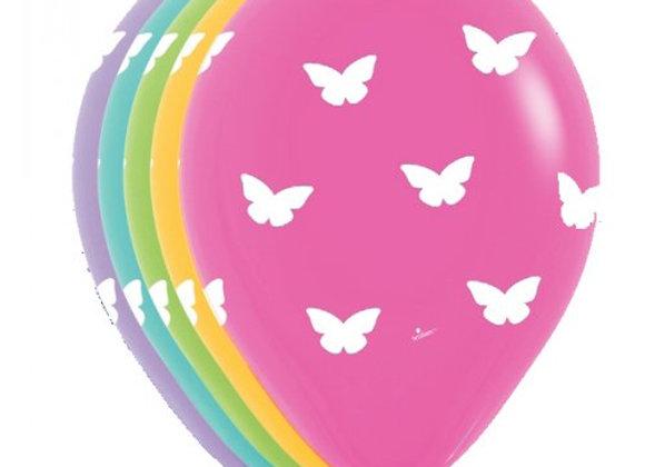Zak losse ballonnen: All over butterflies