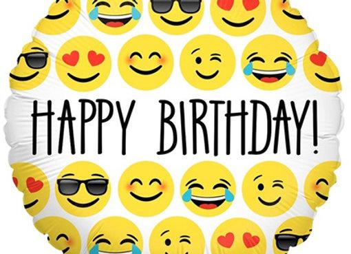 Helium Emoji's Happy Birthday