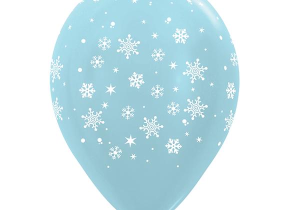 Zak losse ballonnen: All over snowflakes