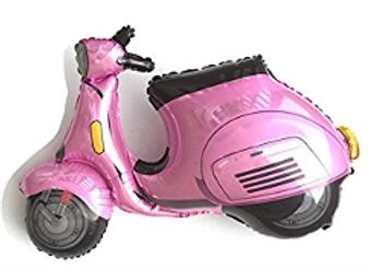 Scooter pink follieballon