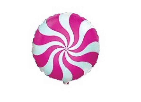Helium rond snoep fuchsia