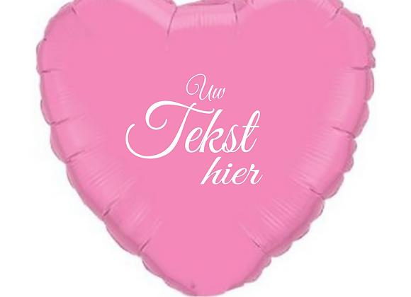 Helium hart roze