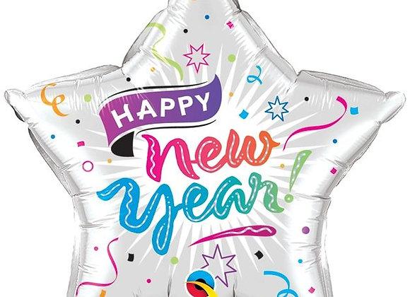 Helium Happy New Year star