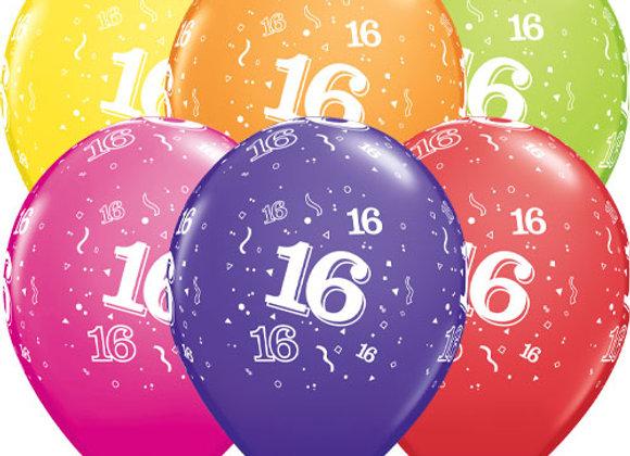 Zak losse ballonnen: 16 assortiment