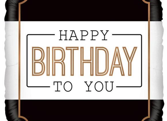 Helium vierkant Happy Birthday