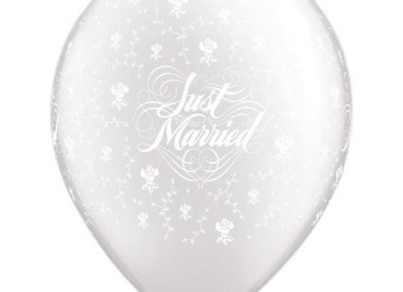 Zak losse ballonnen: Just married roses