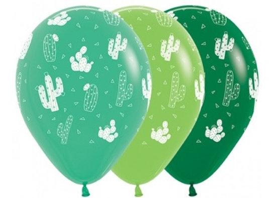 Zak losse ballonnen: All over cactus