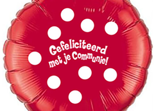 Helium rond communie rood