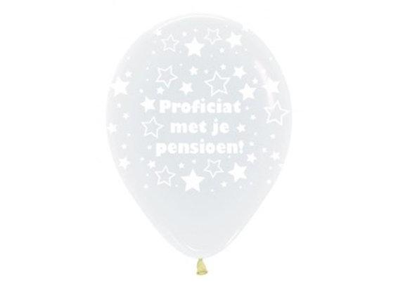 Zak losse ballonnen: Proficiat met je pensioen