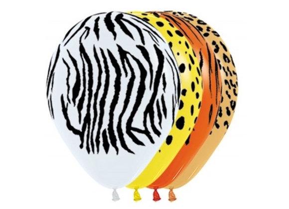 Zak losse ballonnen: All over jungle