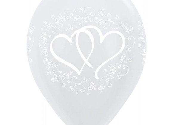 Zak losse ballonnen: Wedding hearts