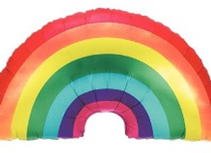 Regenboog folieballon
