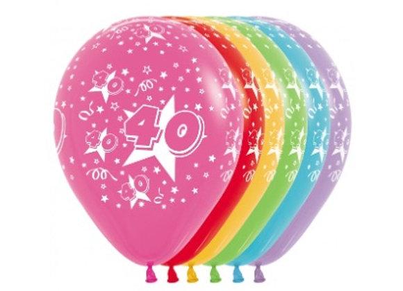 Zak losse ballonnen: 40 assortiment